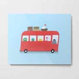 Funny Bus Metal Print
