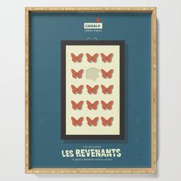 Les Revenants, french movie poster, Canal + tv series, the returned Serving Tray