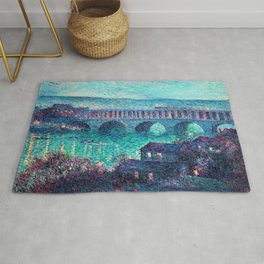 Classical Masterpiece: The Auteuil Viaduct by Maximilian Luce Rug