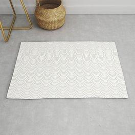 Minimalist Japanese Waves Pattern Rug