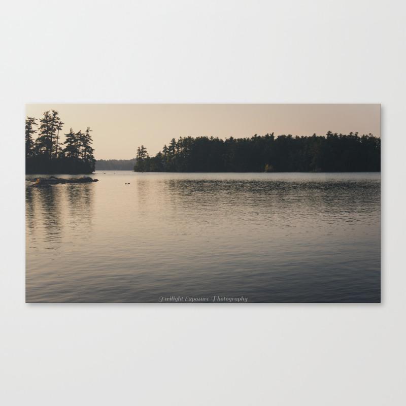 Placid Lake Canvas Print by Plasticfaith CNV7871547