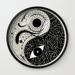 Yin & Yang - [collaborative art with Magdalla del Fresto] Wall Clock