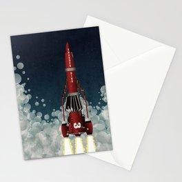Thunderbird 3 Rocket Launch Stationery Cards