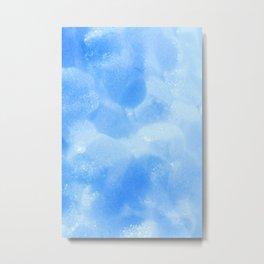 Blue Foam Plastic Texture Metal Print