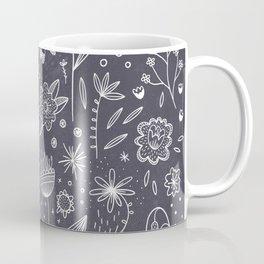 Chalkboard Flowers Coffee Mug