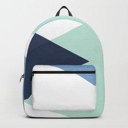 Geometrics - seafoam & blue concrete Backpack