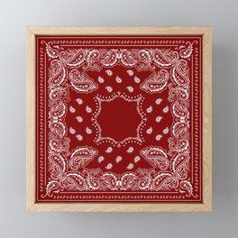 Bandana - Classic Maroon - Paisley - Boho - Western  Framed Mini Art Print