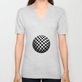 Chequered sphere Unisex V-Neck