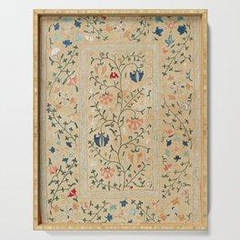 Uzbekistan Suzani Nim Embroidery Print Serving Tray