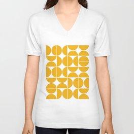 Mid Century Modern Geometric 04 Yellow Unisex V-Ausschnitt