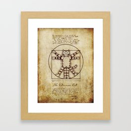 Vitruvian Cat Framed Art Print