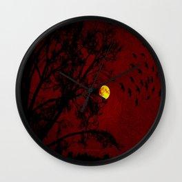 Red Sky - 031 Wall Clock