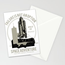 Space Adventure Failure Is Not An Option Stationery Cards