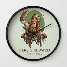 Hero's Reward Ginger Mead Wall Clock