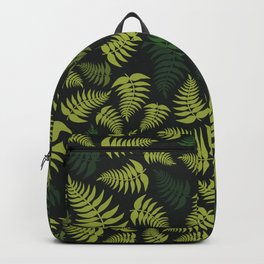 Fern Fronds in Olive Green Tones Backpack
