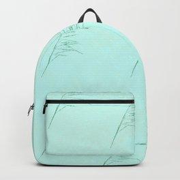 Aqua Leaf pattern Backpack