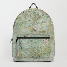 Vintage French Floral Wallpaper Backpack