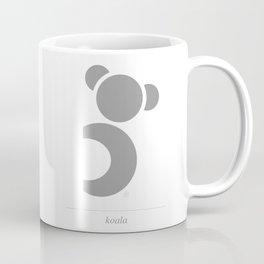 Koala, geometric & minimalist Coffee Mug