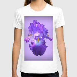 Decorative Lilac Bearded Iris Flower T-shirt