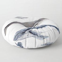Humpback whales Floor Pillow