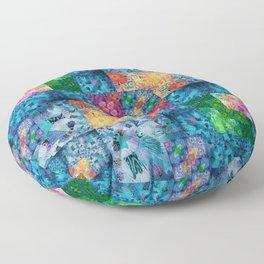 High Definition Geometric Quilt 1 Floor Pillow