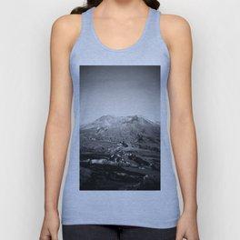 Mount St Helens Holga Black and white film photograph Unisex Tank Top