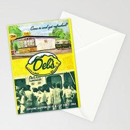 Vintage Del's Lemonade Rhode Island Vintage Advertising Poster Stationery Cards