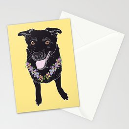 Happy Black Lab Dog Stationery Cards