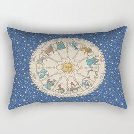 Vintage Astrology Zodiac Wheel Rectangular Pillow
