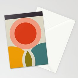 mid century bauhaus geometry large 2 Stationery Cards
