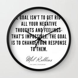 36  | Mel Robbins Quotes | 190802 Wall Clock