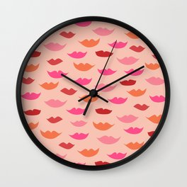 LIP SERVICE {peach} Wall Clock