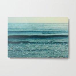 Beach Waves photo. Somewhere Metal Print
