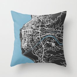 REGGIO CALABRIA Map - Italia | Black | More Colors, Review My Collections Throw Pillow