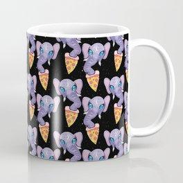 elephant eating a pizza Coffee Mug