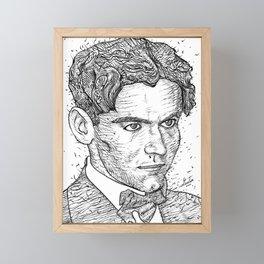 FEDERICO GARCIA LORCA ink portrait Framed Mini Art Print