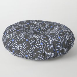 Conform Blue Floor Pillow
