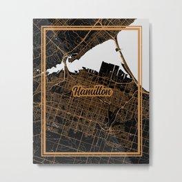 Hamilton | Ontario | Canada - Minimalist City Map Metal Print