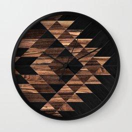 Urban Tribal Pattern No.11 - Aztec - Wood Wall Clock