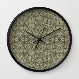 Vintage kaleidoscopic knitting endpaper Wall Clock