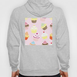 Retro Cupcake dessert bakery - Cupkakes and pastry 50s and 60s style Hoody