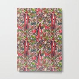 Tarot Mage pattern Metal Print