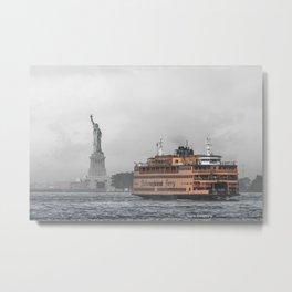 Liberty & The Boat Metal Print
