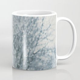 an abstract photograph of a tree & falling sn Coffee Mug