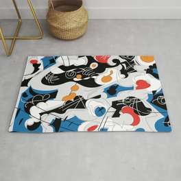 sizzle kinks of curved lines Rug