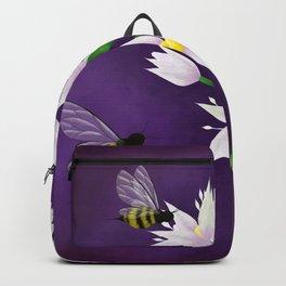 Allium flower Backpack