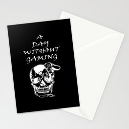 A day without gaming. In my skull Head Stationery Cards