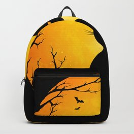 Spooky Halloween Cat Backpack