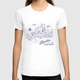Martha's Vineyard Map T-shirt