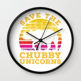Rhino Chubby Unicorns Wall Clock